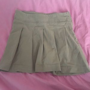 Girls Preppy Pleated Khaki Skirt (School Uniform)